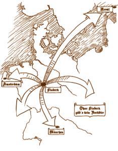 Bier aus Einbeck in Die Welt im 14. Jahrhundert